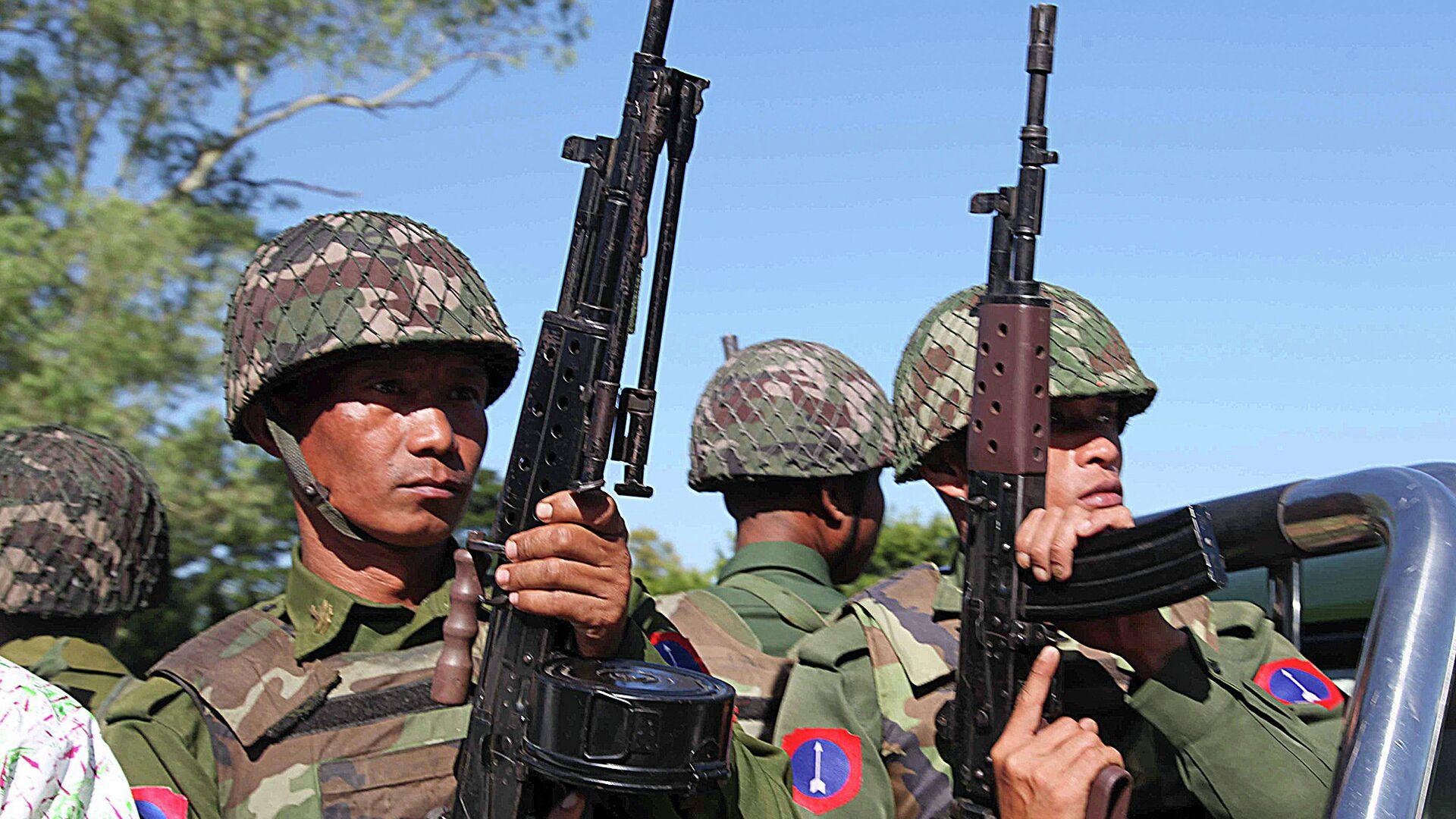 Военнослужащие армии Мьянмы. Архивное фото - РИА Новости, 1920, 02.02.2021