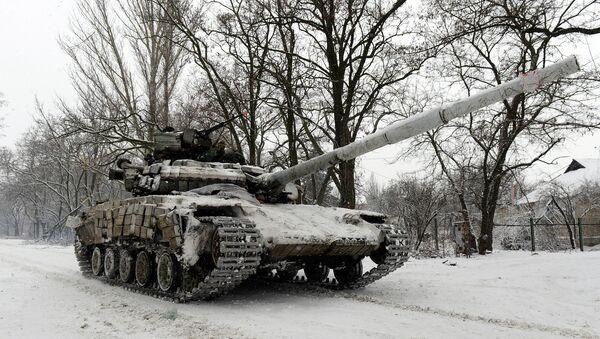 Танк Вооруженных сил Украины под Донецком. Архивное фото