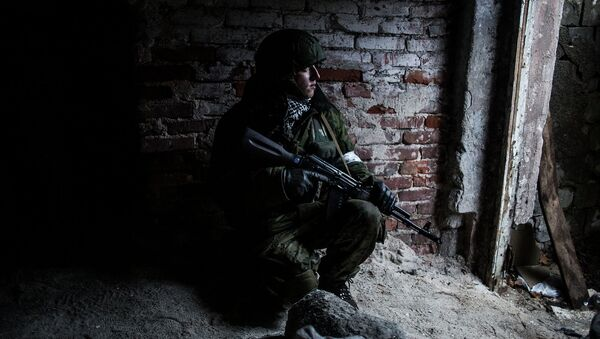 Ополченец в Киевском районе Донецка. 22 января 2015