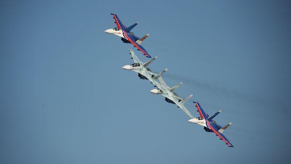 Участники пилотажной группы Соколы России. Архивное фото