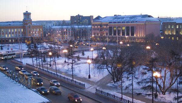 Площадь Кирова в Иркутске. Архивное фото