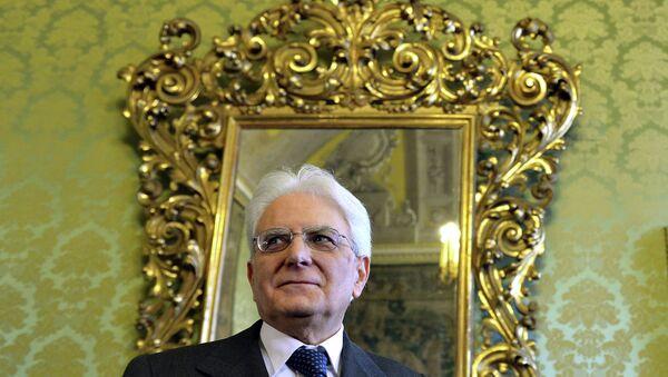 Президент Италии Серджо Маттарелла. Архивное фото