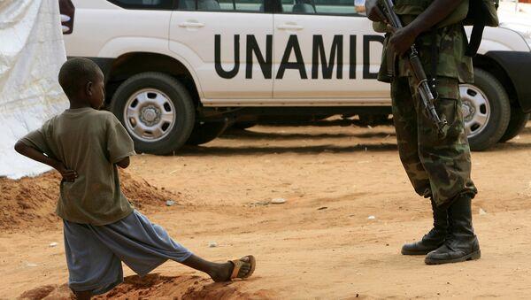 Патруль совместной миротворческой миссии Африканского cоюза и ООН (ЮНАМИД). Архивное фото