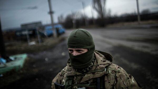 Украинский солдат в Донбассе. Архивное фото