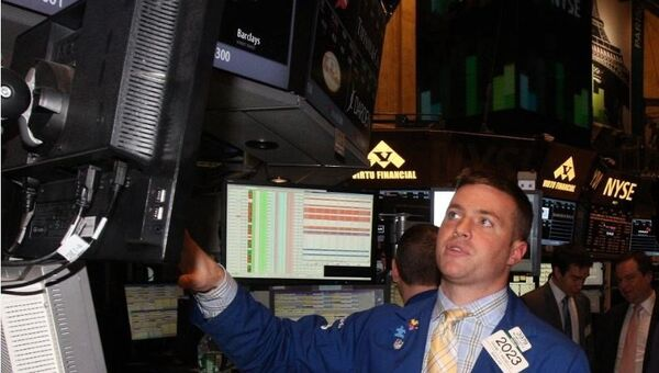 В здании Нью-Йоркской фондовой биржи, архивное фото