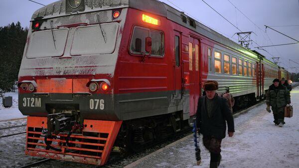 Пригородная электричка РЖД. Архивное фото