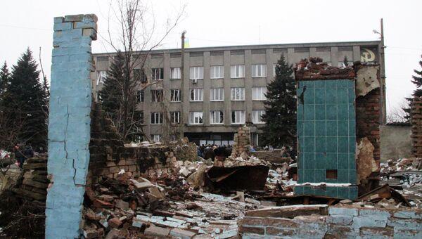 Ситуация в Дебальцево и Углегорске. Архивное фото
