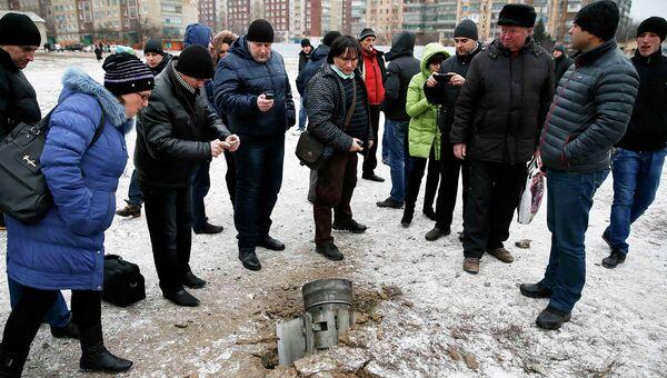 Остатки снаряда упавшего на Краматорск