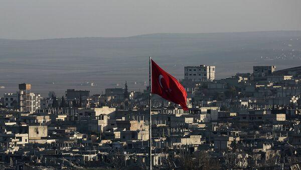 Турецкий флаг. Архивное фото