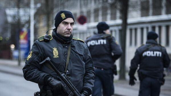 Полиция Копенгагена возле здания вокзала. Архивное фото