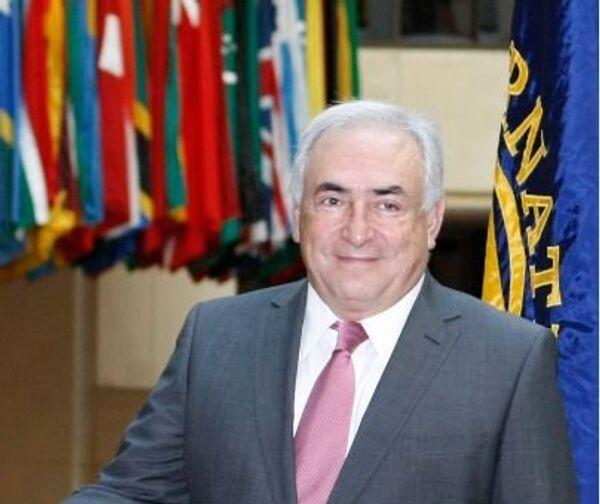 Бывший исполнительный директор Международного валютного фонда Доминик Стросс-Кан в Вашингтоне