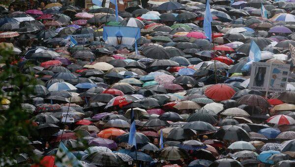 Марш тишины в Буэнос-Айресе