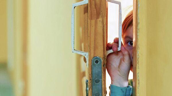 Девочка из Украины в лагере беженцев в Ростовской области. Архивное фото