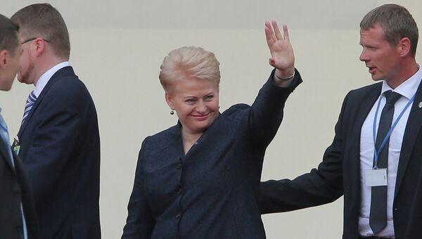 Президент Литвы Даля Грибаускайте в Киеве
