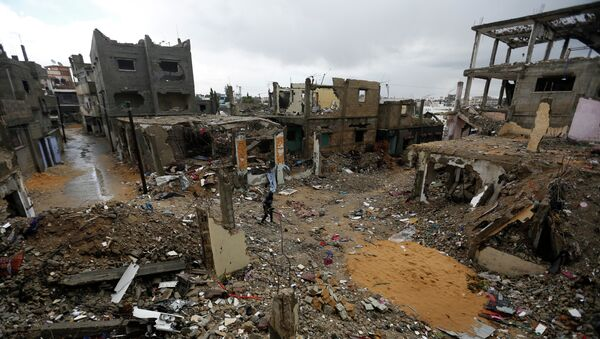 Разрушения в секторе Газа. Архивное фото