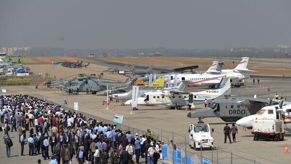 Авиавыставка Aero India - 2015 в городе Бангалор в Индии