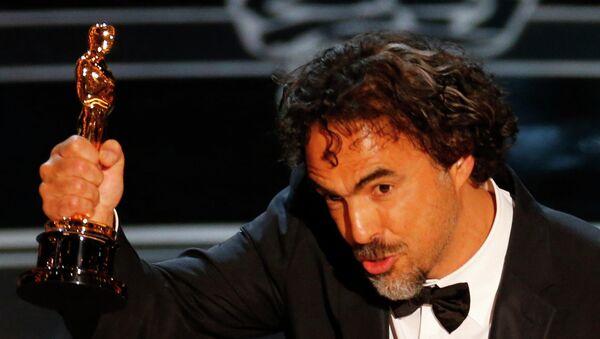 Алехандро Гонсалес Иньярритe с Оскаром, 23 февраля 2015