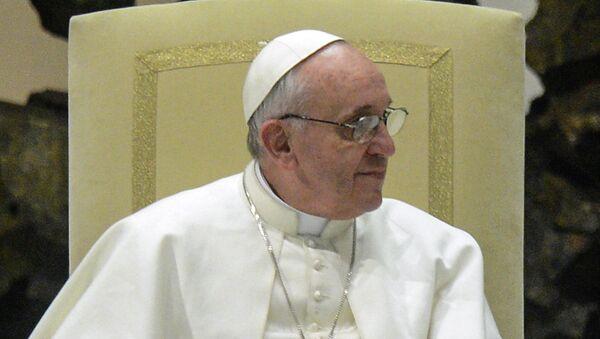 Встреча Папы Римского с журналистами