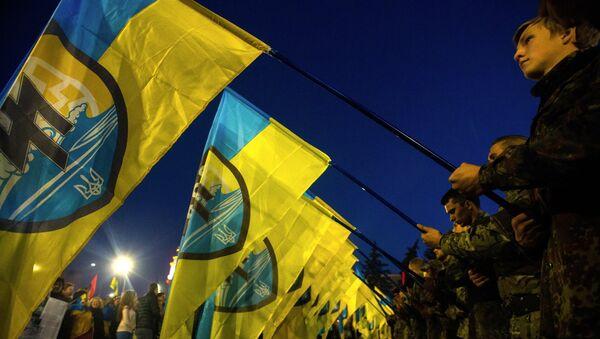 Мероприятия в честь годовщины создания УПА на Украине. Архивное фото.