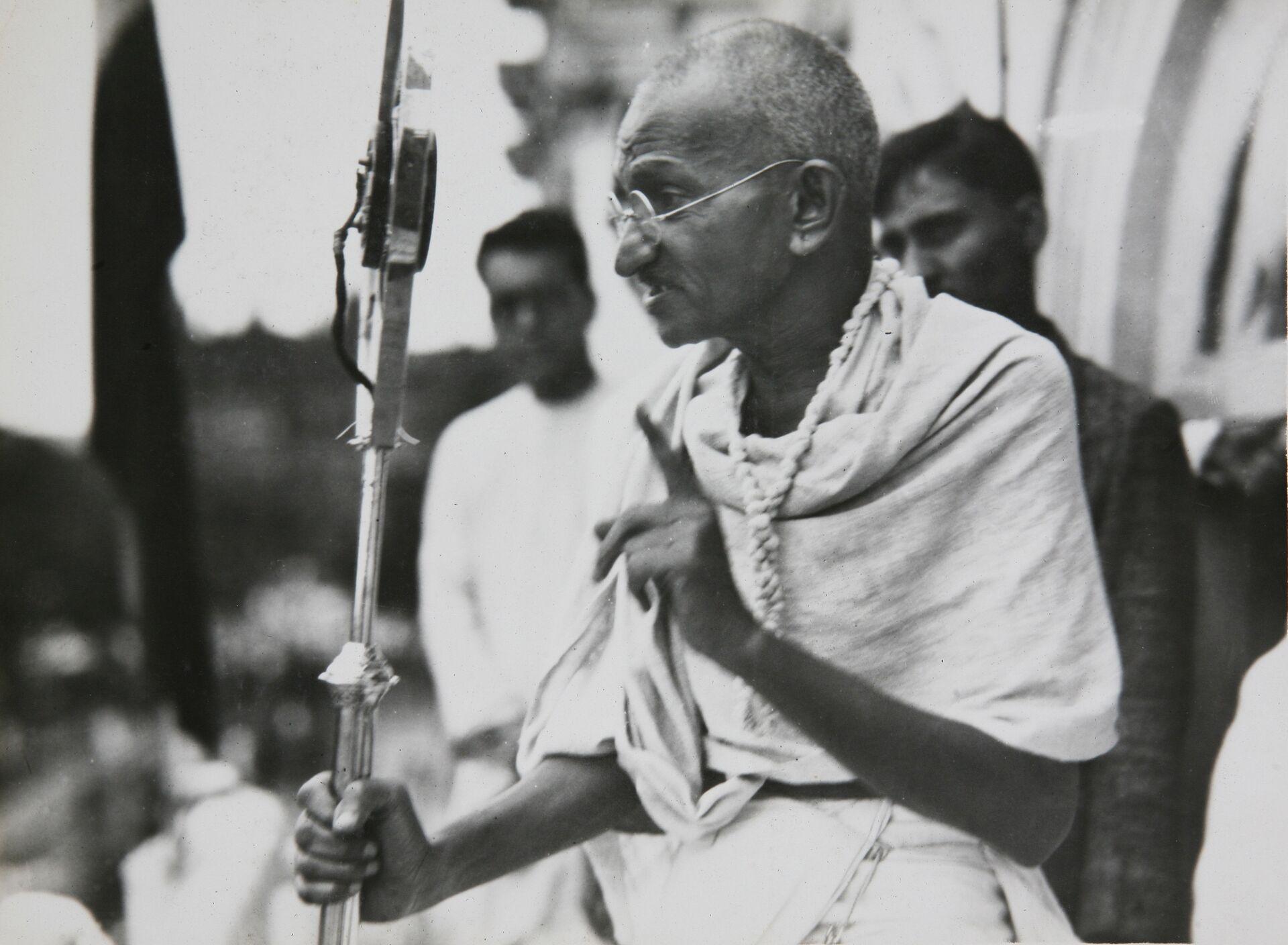 Один из руководителей и идеологов движения за независимость Индии от Великобритании Махатма Ганди - РИА Новости, 1920, 29.10.2020