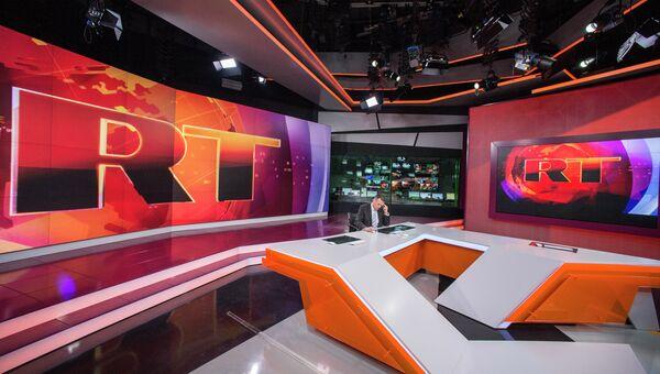 Ньюсрум телеканала Russia Today на английском языке. Архивное фото