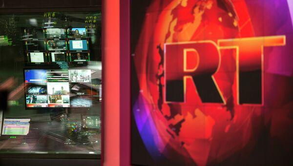 Аппаратная ньюсрума телеканала Russia Today. Архивное фото