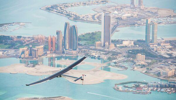 Начало кругосветного полета самолета на солнечных батареях