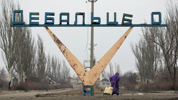 Жительница Дебальцево на окраине города. Архивное фото