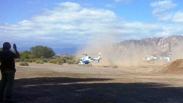 На месте столкновения двух вертолетов в Аргентине, 9 марта 2015