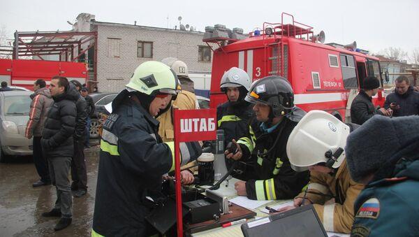 Пожарно-спасательные подразделения МЧС России ликвидируют последствия пожара в Кировском районе Казани