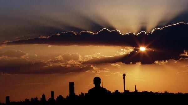Закат солнца в Йоханнесбурге, ЮАР
