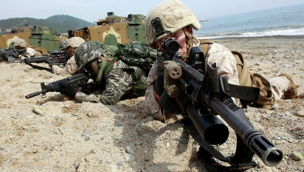 Совместные учения южнокорейских и американских военных. Архивное офто