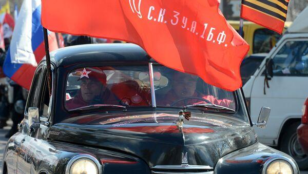 На автопробеге в память о ВОВ. Архивное фото