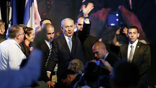 Премьер Израиля Беньямин Нетаньяху заявил о победе на выборах, 18 марта 2015