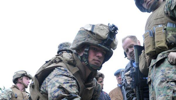 Международные военные учения. Архивное фото
