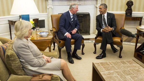 Барак Обама принял принца Уэльского Чарльза и герцогиню Корнуольскую Камиллу
