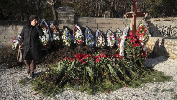 Могила без имени на кладбище в Севастополе, предположительно, младшего сына бывшего украинского президента Виктора Януковича