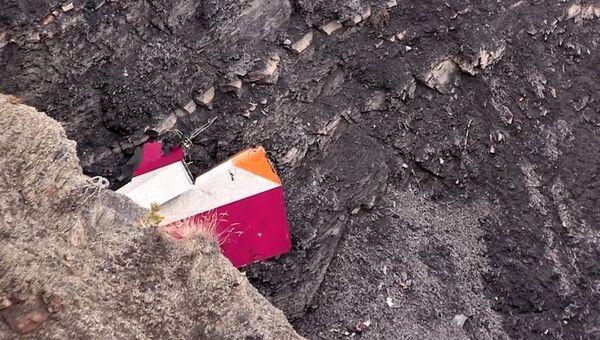Обломки самолета Airbus A320 авиакомпании Germanwings