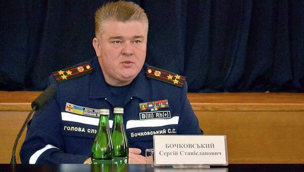 Глава Госслужбы Украины по чрезвычайным ситуациям Сергей Бочковский. Архивное фото