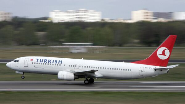 Cамолет турецкой авиакомпании Turkish Airlines. Архивное фото