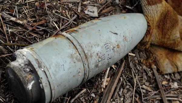 Неразорвавшийся снаряд. Архивное фото