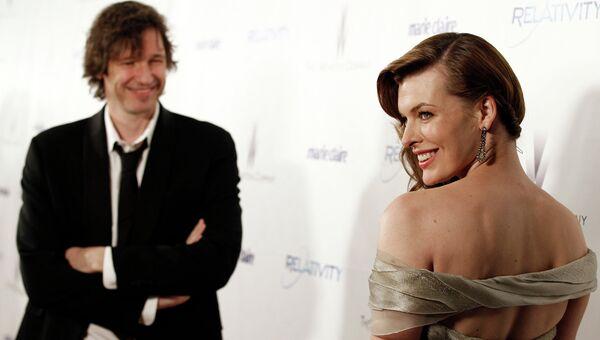 Американская актриса Мила Йовович и американский кинорежиссер Уэс Андерсон. 2011 год