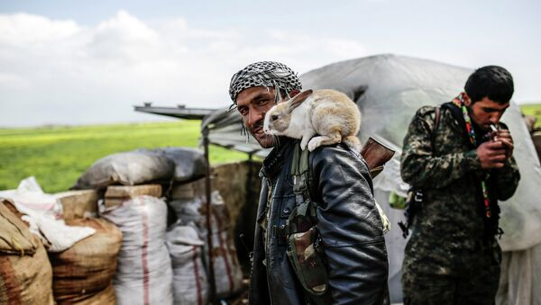 Курдские повстанцы в Сирии. Архивное фото