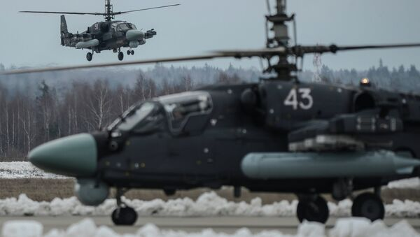 Военные вертолеты. Архивное фото