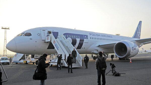 Самолет польской национальной авиакомпании LOT. Архивное фото