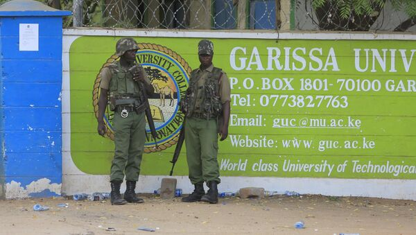 Университет в городе Гарисса в Кении, на который напали боевики, 4 апреля 2015