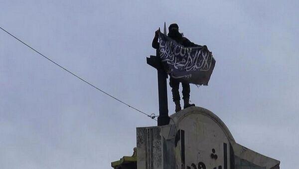 Боевик террористической группировки Джебхат ан-Нусра. Архивное фото