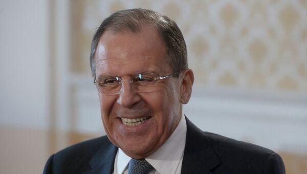 Министр иностранных дел России Сергей Лавров во время интервью гендиректору МИА Россия сегодня Д.Киселеву. Архивное фото