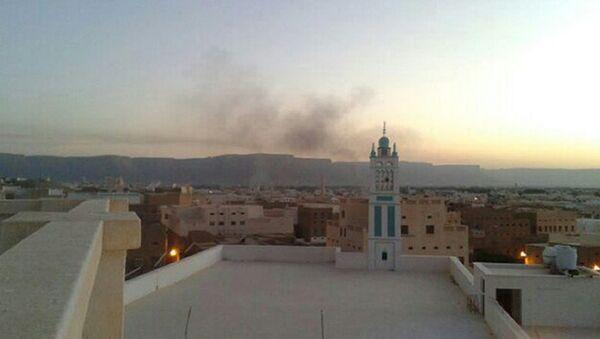 Дым над городом в провинции Хадрамаут, Йемен. Архивное фото