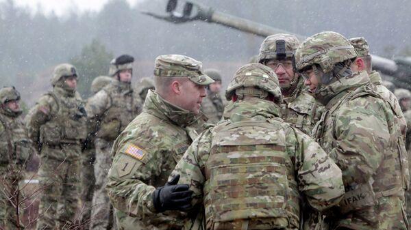 Военнослужащие блока НАТО принимают участие в военных учениях Operation Summer Shield на полигоне Адажи в Латвии. Архивное фото.
